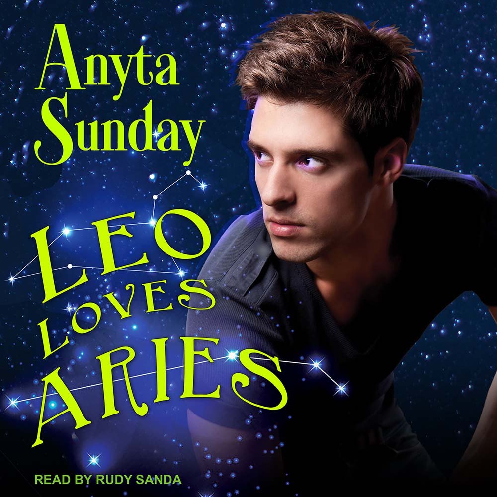 Audiobook Cover of Gay Romance Novel Leo Loves Aries by Anyta Sunday